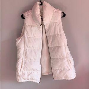 old navy white vest